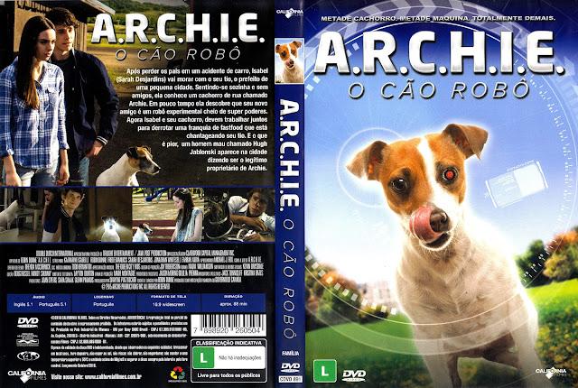 Capa DVD A.R.C.H.I.E. O Cão Robô