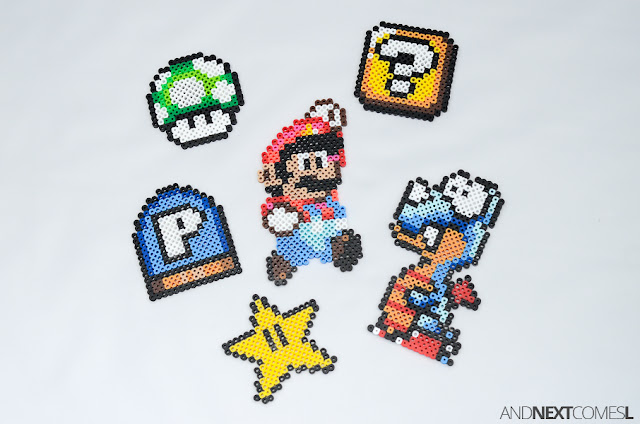 Awesome Super Mario World perler bead crafts and patterns from And Next Comes L