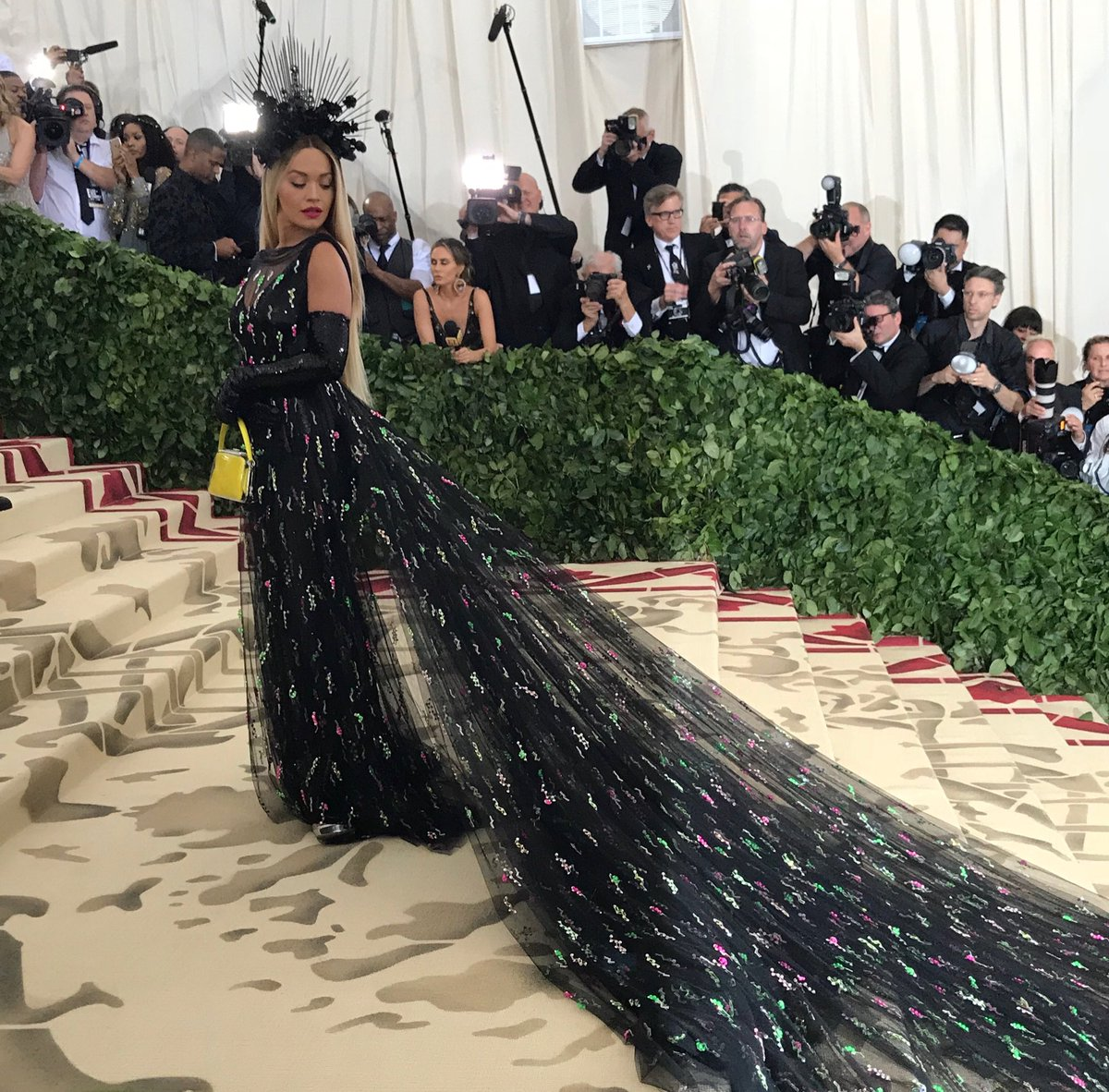 Rita Ora looks exceptional on the  2018 Met Gala red carpet
