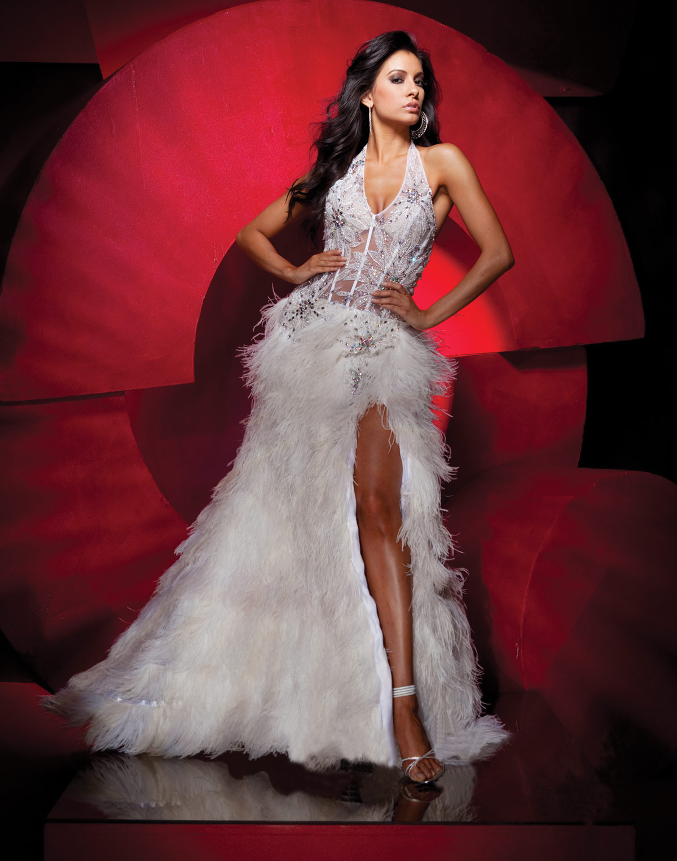 d0202a7de74 Feather Prom Dress (ZaphonProm.com Style   TB-111C41)
