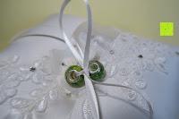 fertig: Hochzeit Ringkissen mit Satin Bogen 21cm* 21cm