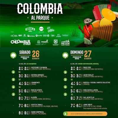 PROGRAMACIÓN COLOMBIA AL PARQUE 2017 - 1