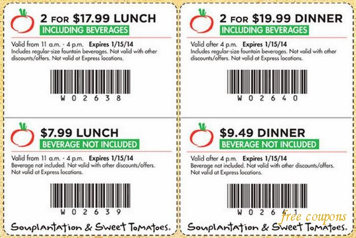 Souplantation and Sweet Tomatoes are two restaurants that offer all-you-can eat salad, pastas, soups, and bakery items with an emphasis on fresh ingredients. Save on breakfast, lunch, dinner, and even catering with a printable coupon - new coupons added daily.