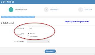 efilling djp pajak online 2017