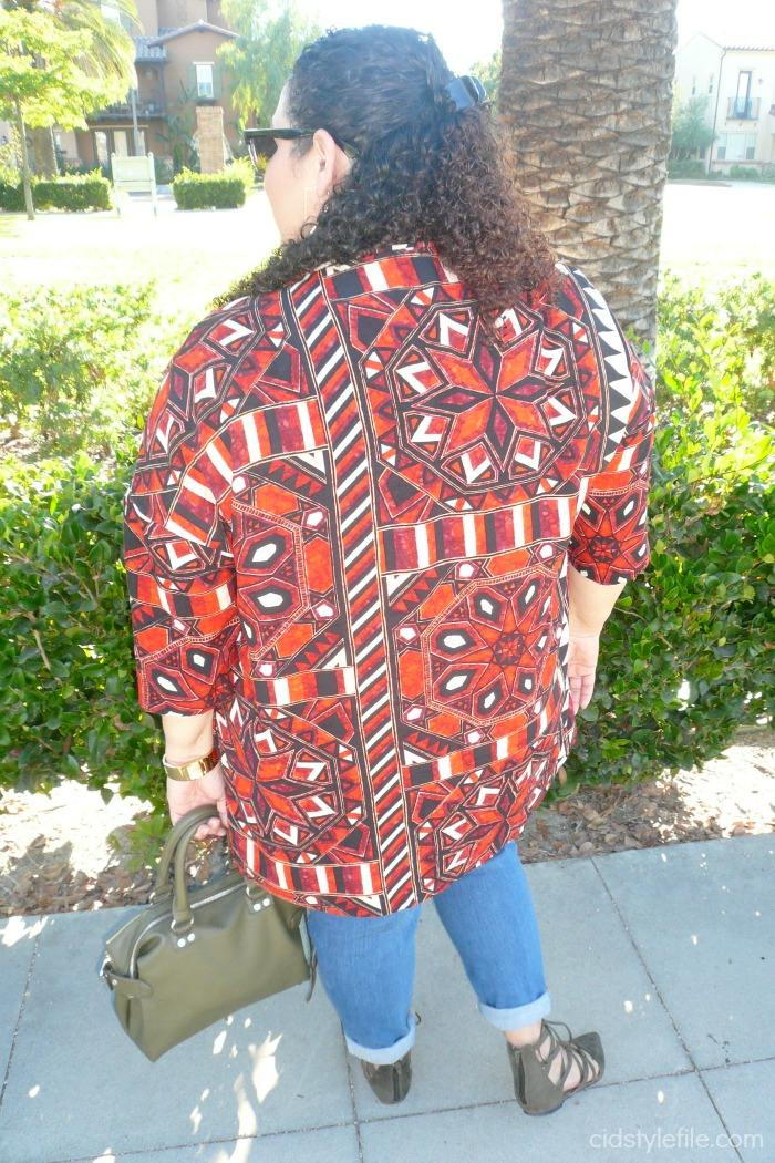 untamed, style, tribal, pattern, print, cool, summer, essentials, h and m, old navy jeans, plus size, body confidence, love your self, ross dress for less, olive, lace up, flats, style over 40, 40 plus style, style at any age.