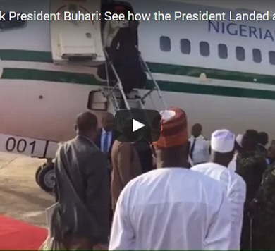 Muhammadu Buhari return from UK Long trip