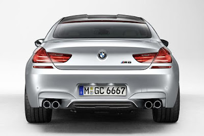 2016 BMW M6 Coupe back view sedan car