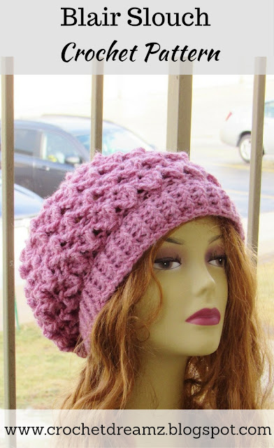 Crochet Dreamz: How to make a Slouchy Hat, Slouch Hat Crochet Pattern ...