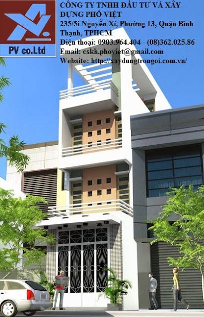 giá xây nhà trọn gói tại tphcm