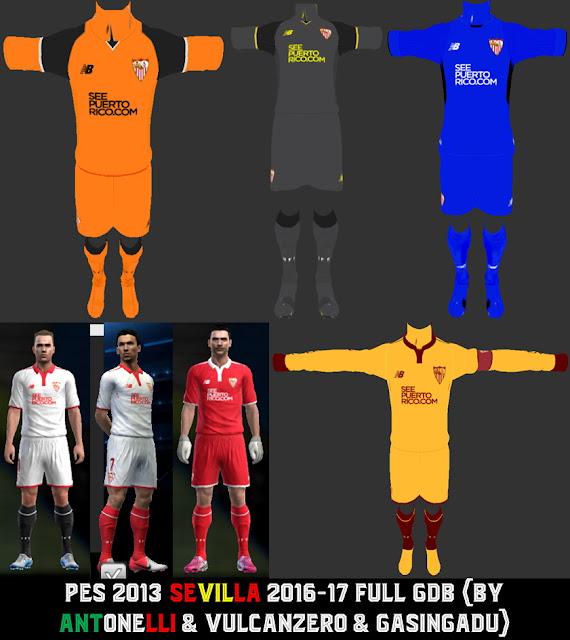 PES 2013 Sevilla 2016-17 Full GDB V.4 (BY ANTONELLI & PESEDIT TEAM)
