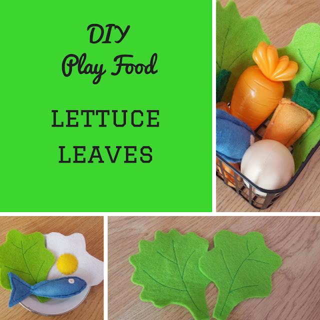 DIY Play Food: Lettuce Leaves