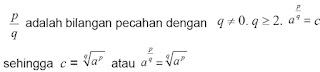 Sifat-sifat bilangan bentuk akar