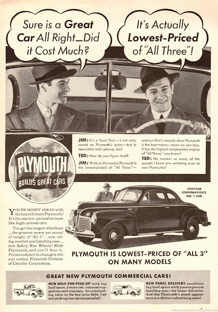 1 April 1941 worldwartwo.filminspector.com Plymouth ad