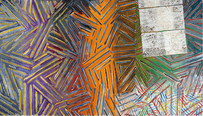 Jasper Johns - Between the clock and the bed,1981.