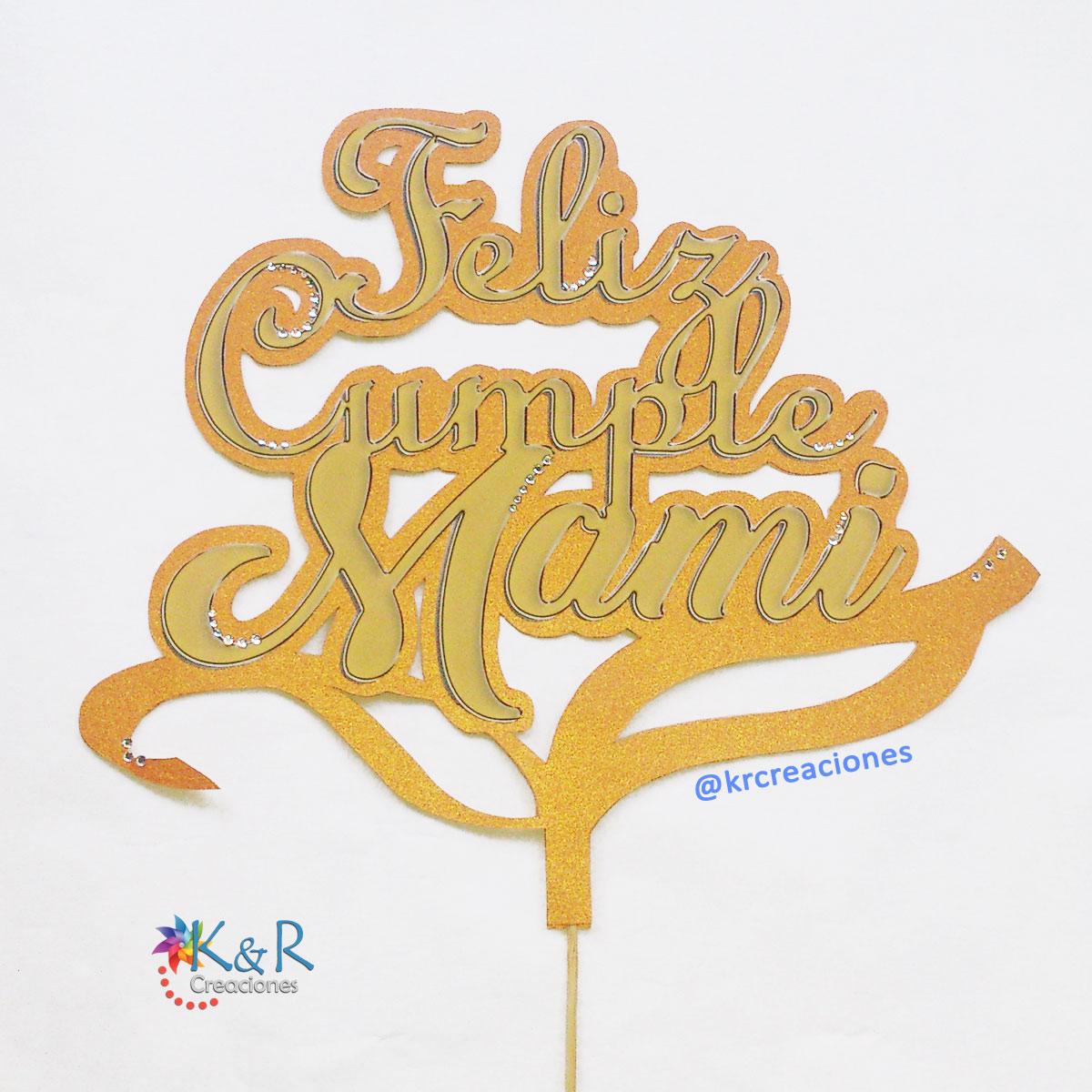 KyR Creaciones: Topper para Torta de Cumpleaños