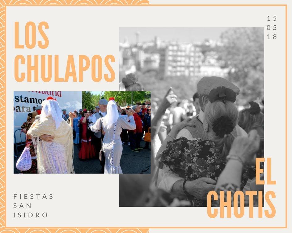 Fiestas San Isidro en Madrid マドリードでサンイシドロ祭りでチョティスを踊るチュラポスたち