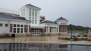 Franklin High School on a rainy day