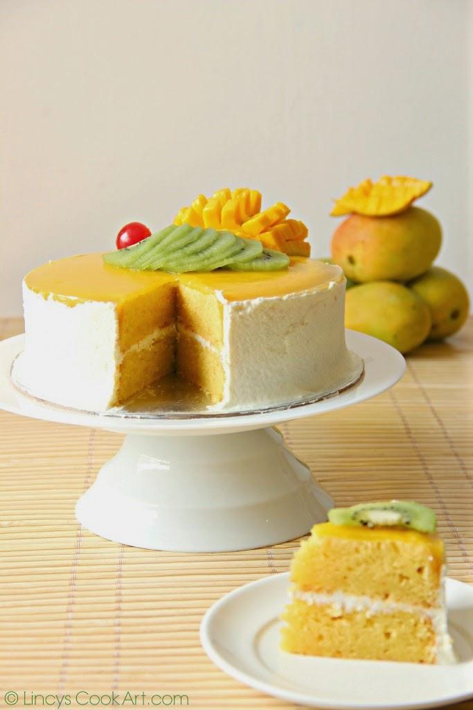 Frosted Mango Cake