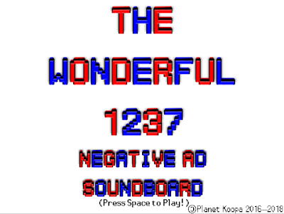 The Wonderful 1237 Negative Ad Soundboard title screen
