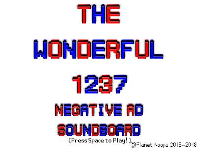 The Wonderful 1237 Negative Ad Soundboard title screen