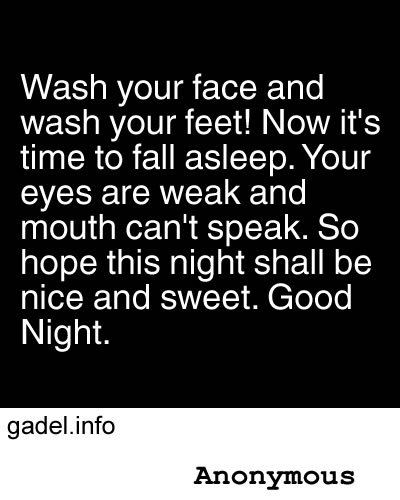 Funny Good Night Poems