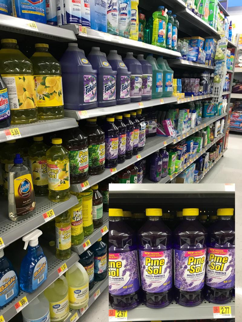 Lavender Pine Sol at Walmart