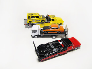 1/64 transporters carriers tow trucks hot wheels