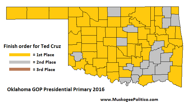 MuskogeePoliticocom March - Politico 2016 us election map by counties