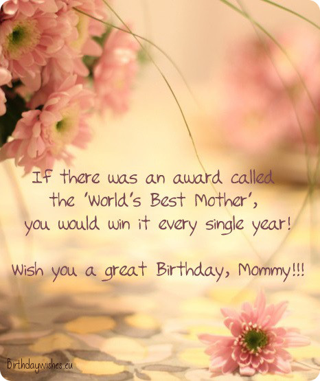 Cute Birthday Wishes For Mother From Daughter With Images