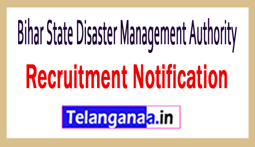 Bihar State Disaster Management Authority BSDMA Recruitment
