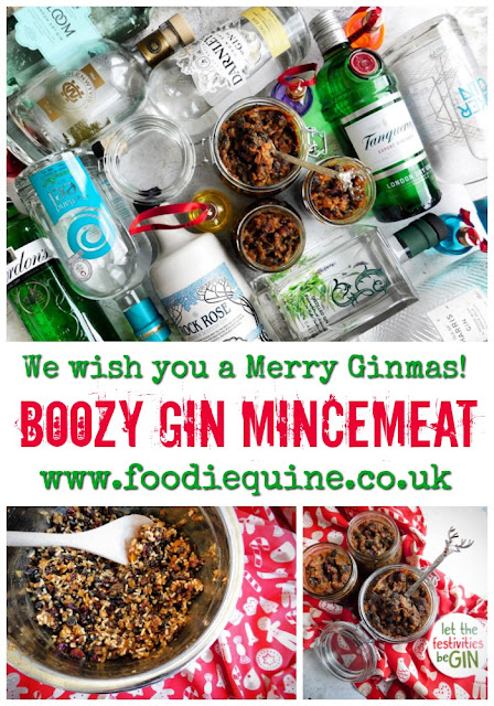 www.foodiequine.co.uk Have yourself a Merry Little Ginmas with my recipe for Boozy Gin Mincemeat. Perfect for all those festive cakes, bakes and mince pies and would make a great Christmas gift for a Gin lover.
