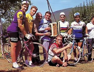 Jean Ségurel, Raymond Poulidor, Rudy Altig, Jacques Anquetil...