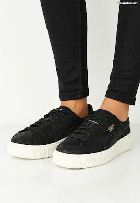 Zapatillas Negras de Mujer