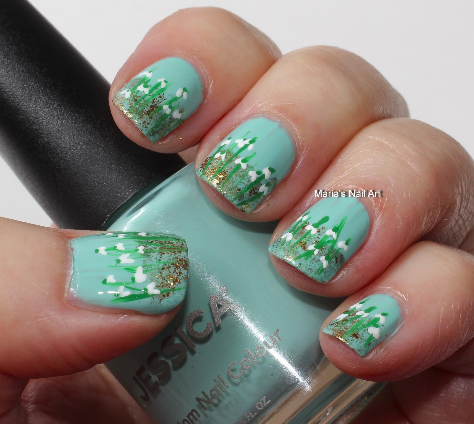 Marias Nail Art and Polish Blog: Snowdrops - vintergækker
