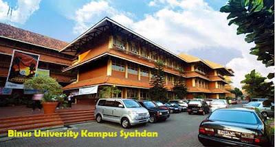 Binus University Kampus Syahdan