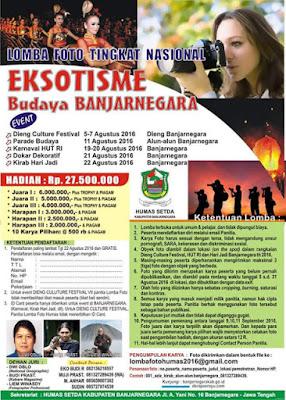 Lomba Foto Tingkat Nasional Eksotisme Budaya Banjarnegara - Jawa Tengah