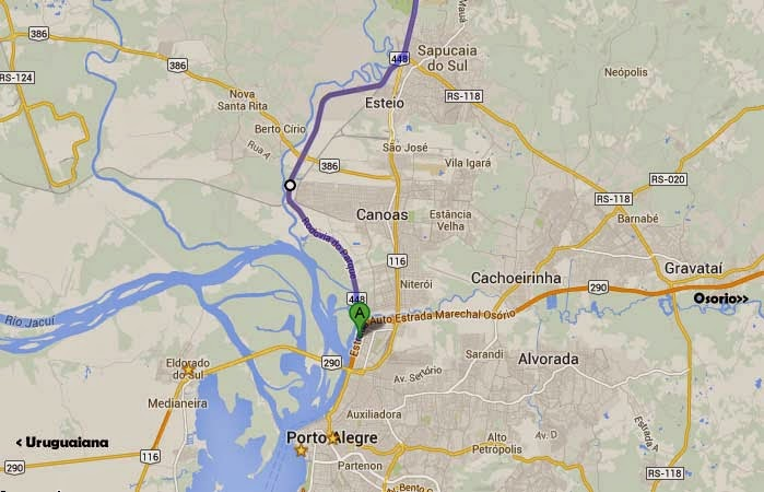 mapa rodovia do parque