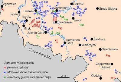 Złoża złota w Polsce