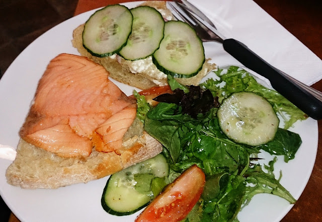 Tolga Woodworks, smoked salmon sandwich