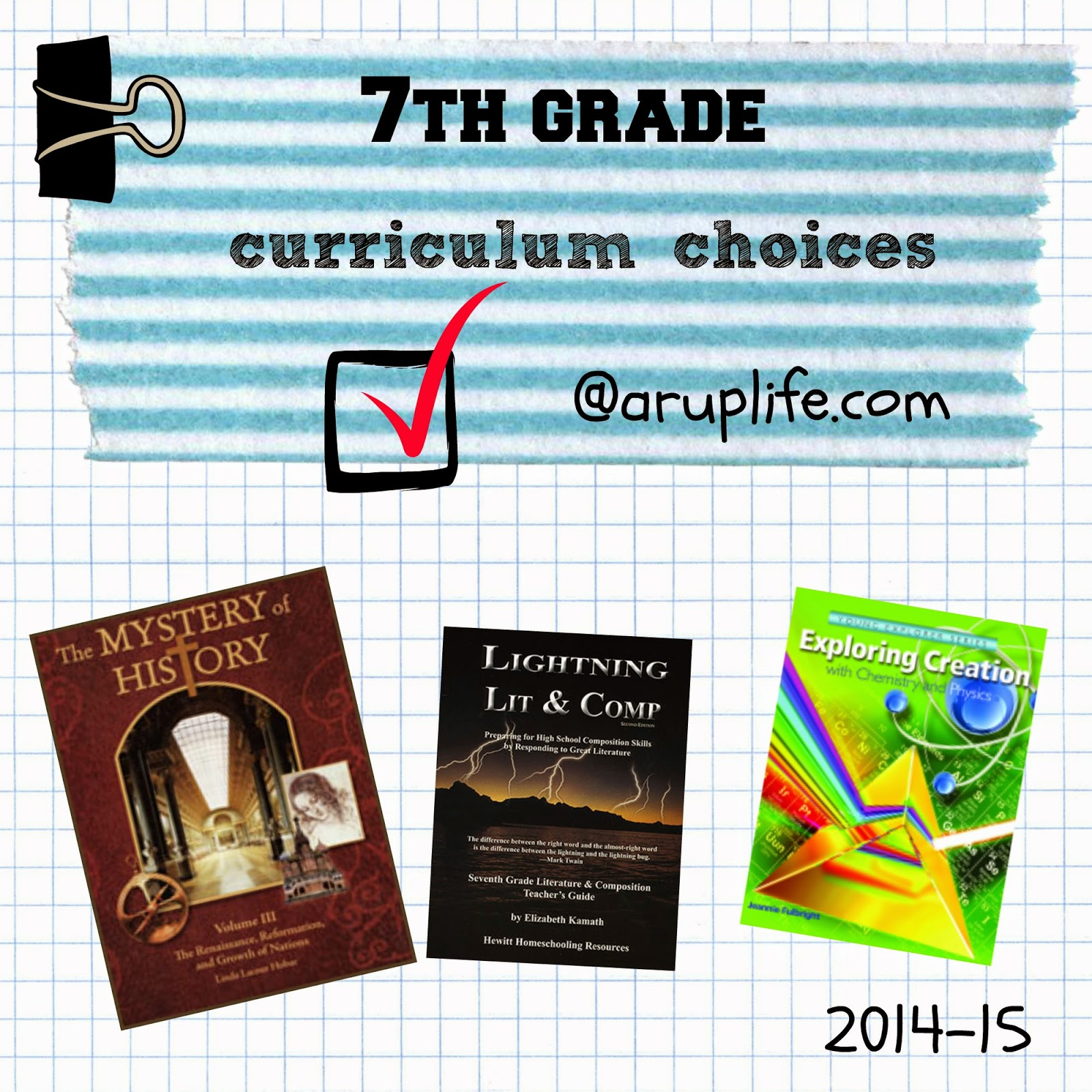 A Rup Life 7th Grade Curriculum Choices