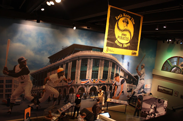 On the field at the Western Pennsylvania Sports Museum.