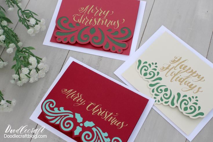 Filigree Christmas Cards Diy Cricut Explore Air 2