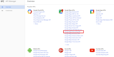 4 easy steps to generate Google Map geocoding API key