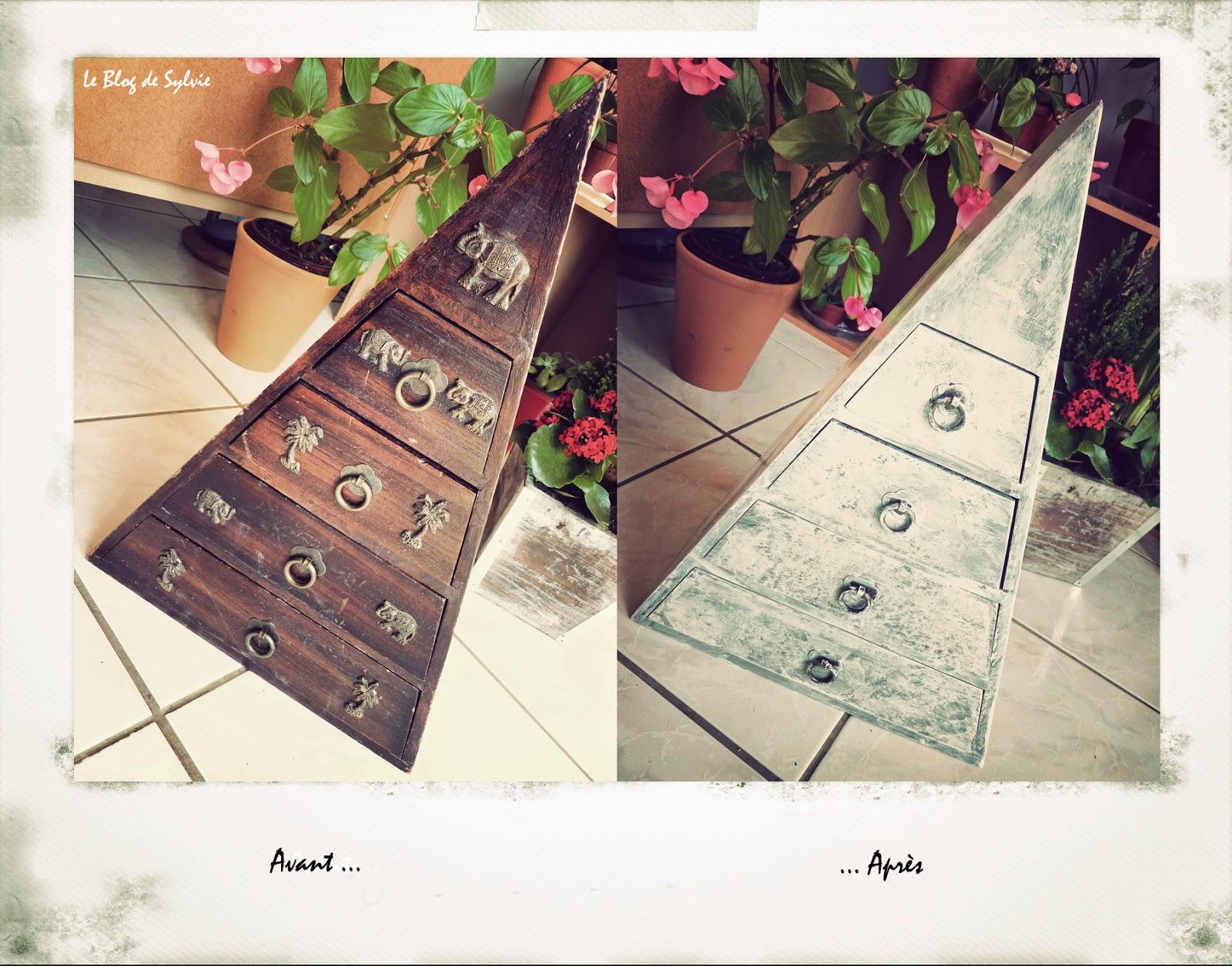 le blog de sylvie astuce brico d co r novation d 39 un petit meuble en bois. Black Bedroom Furniture Sets. Home Design Ideas