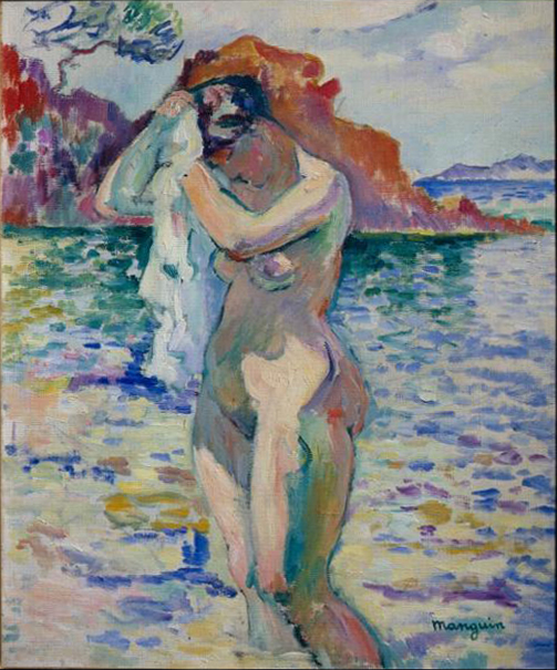 Henri Manguin 1906, Woman bather, oil on canvas