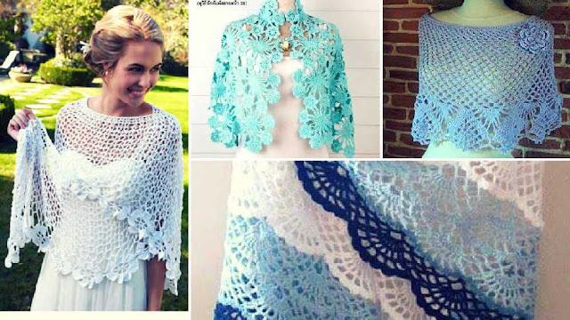 71 Chales y Ponchos a Crochet - Colección de Patrones para Descargar