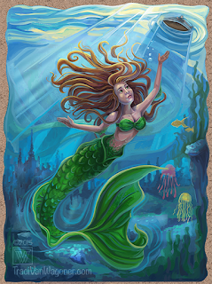 Mermaid art by Traci Van Wagoner