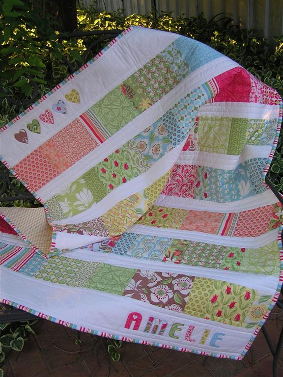 Thimbelina Upsized Charm Square Baby Quilt Instructions
