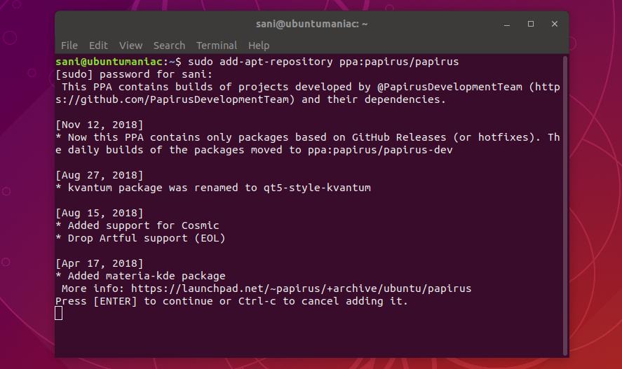 Install Papirus Icon Theme on Ubuntu (18 04/18 10) and Debian 8/9