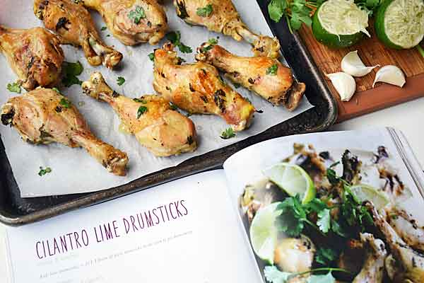 Slow cooker cookbook with cilantro lime drumsticks